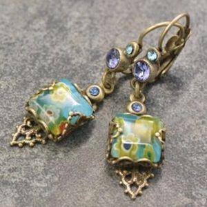 Jewelry - Millefiori Glass Bead Earring, NWT